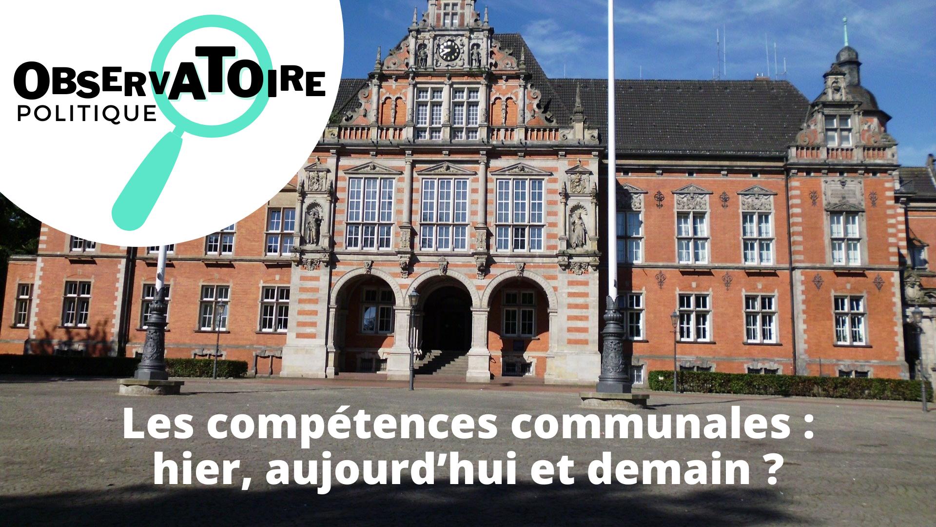 Observatoire politque competences communales